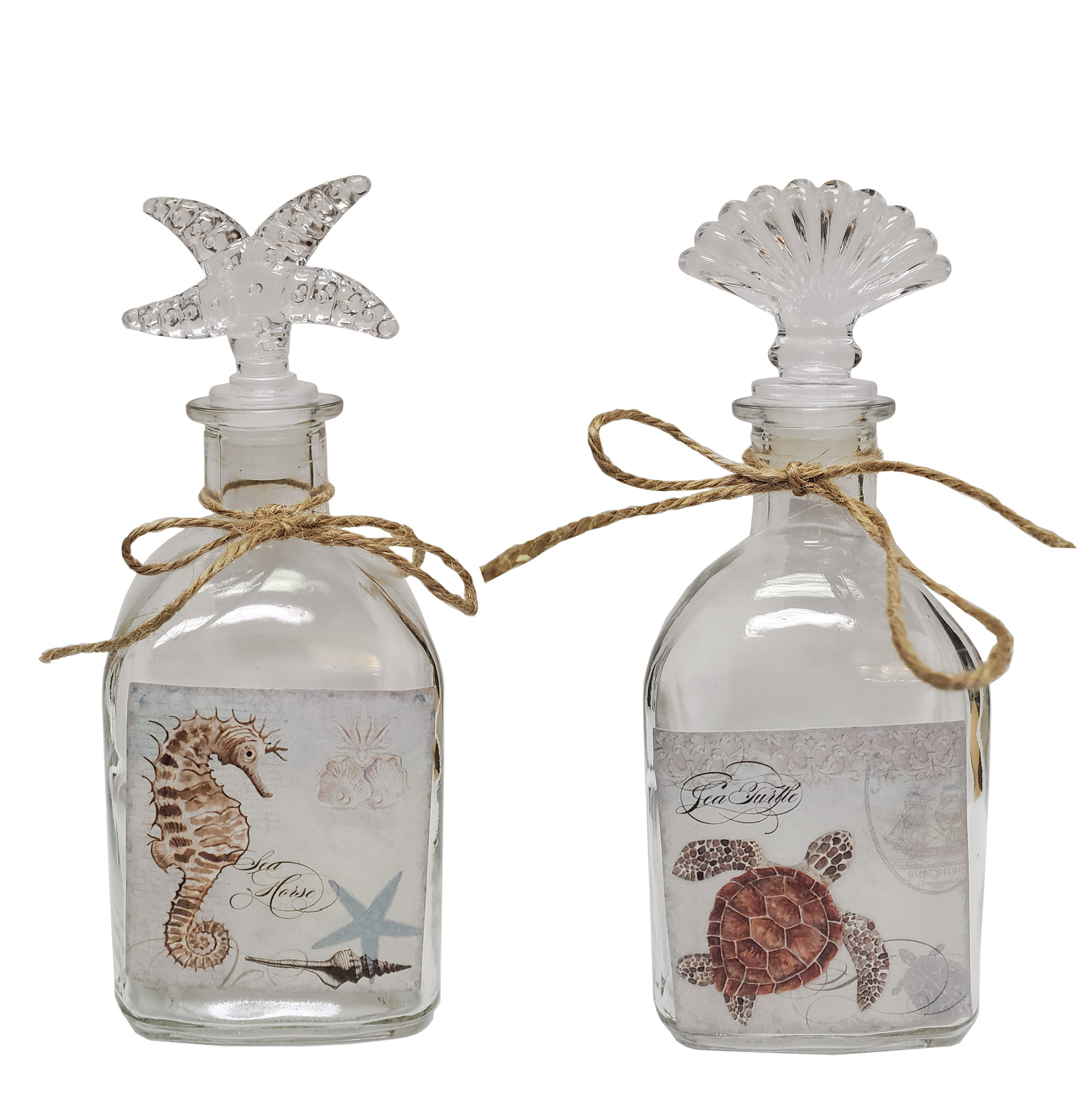 seahorse and trutle decorative sand keeping jars