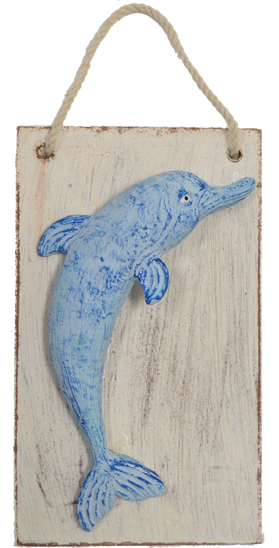 "Dolphin Plaster 6""H Wall Plaque"