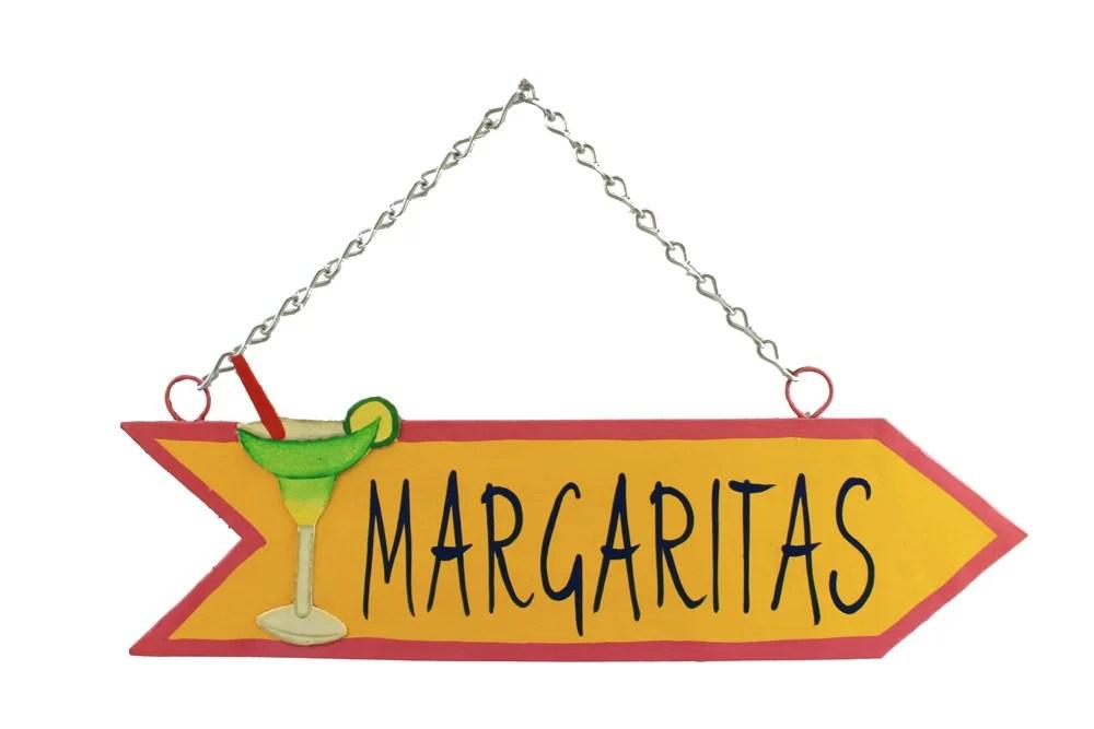 "18"" Margaritas Arrow Metal Wall Sign"