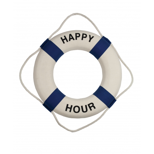 "18""Dia Happy Hour Decorative Lifering - Encased Styrofoam"