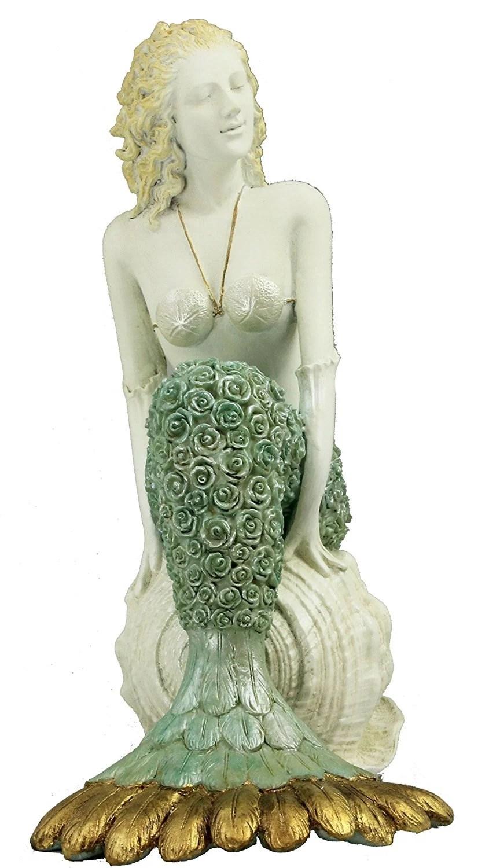 "17"" Large Mermaid Jazz Singer Figurine"