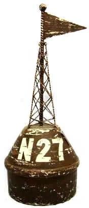 "22"" Wood Iron Navigational Buoy"