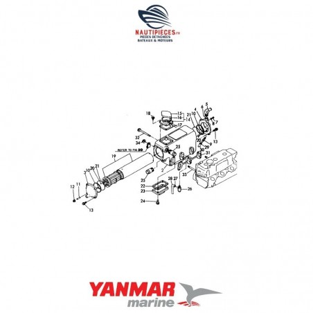 24341-000260 joint injecteur ORIGINE moteur diesel YANMAR
