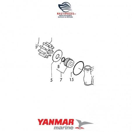 26554-040082 vis 4*8 couvercle pompe eau mer moteur YANMAR