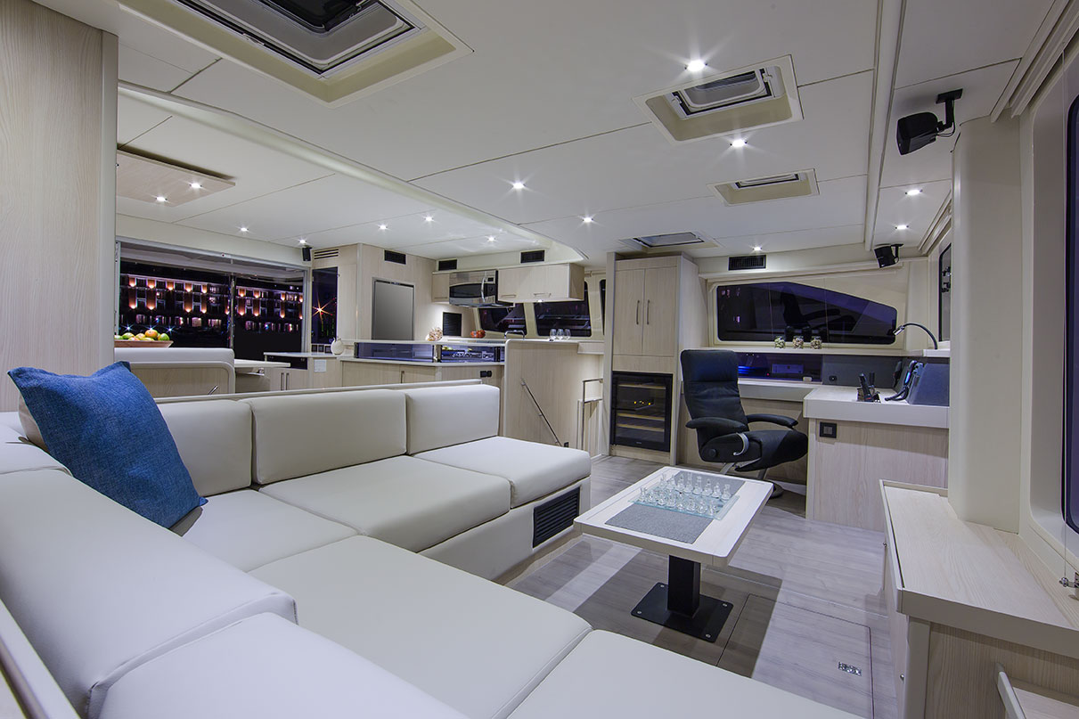 Leopard 58 Catamaran Interior Photography  Nautiquetv