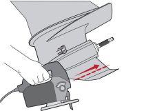 réparer un aileron d'embase decoupe