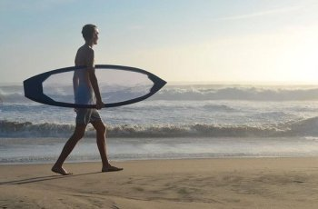 Una tabla de surf transparente!