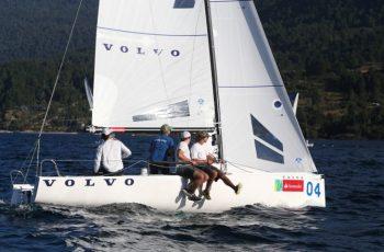 """""""Volvo"""" logró su tercer triunfo consecutivo en el Nacional de Veleros J-70"""