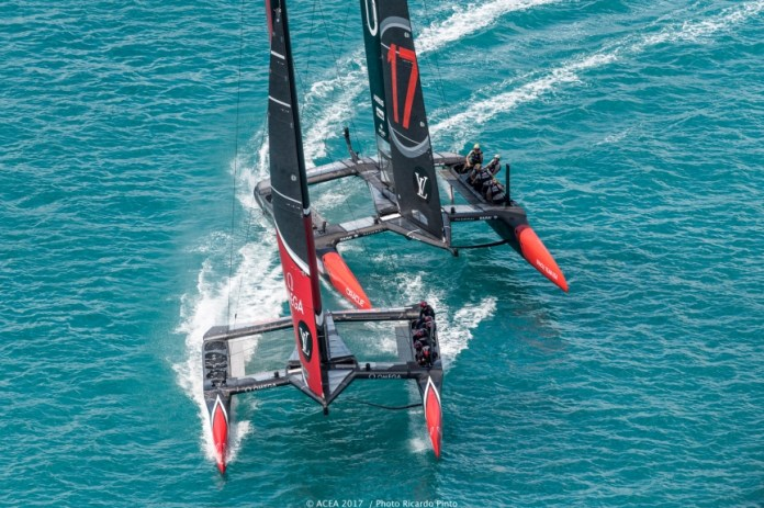 America's Cup. Ventaja de Emirates Team New Zealand