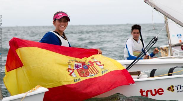 María Perelló, campeona del mundo de Optimist