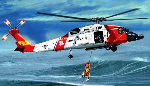 Capitán salta al agua de Alaska