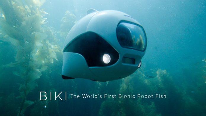 BIKI . Primer dron subacuático biónico