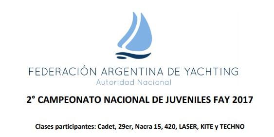 2º CAMPEONATO NACIONAL JUVENIL FAY
