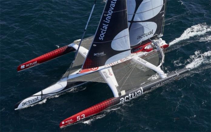 Yves Blevec vuelca con el Actual en el Cabo de Hornos