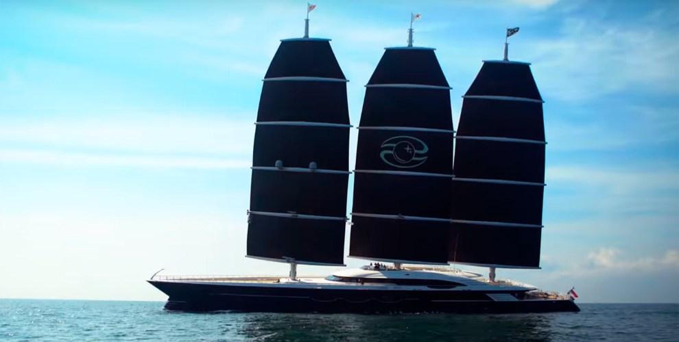Black Pearl 106m. El superyate de vela más grande del mundo