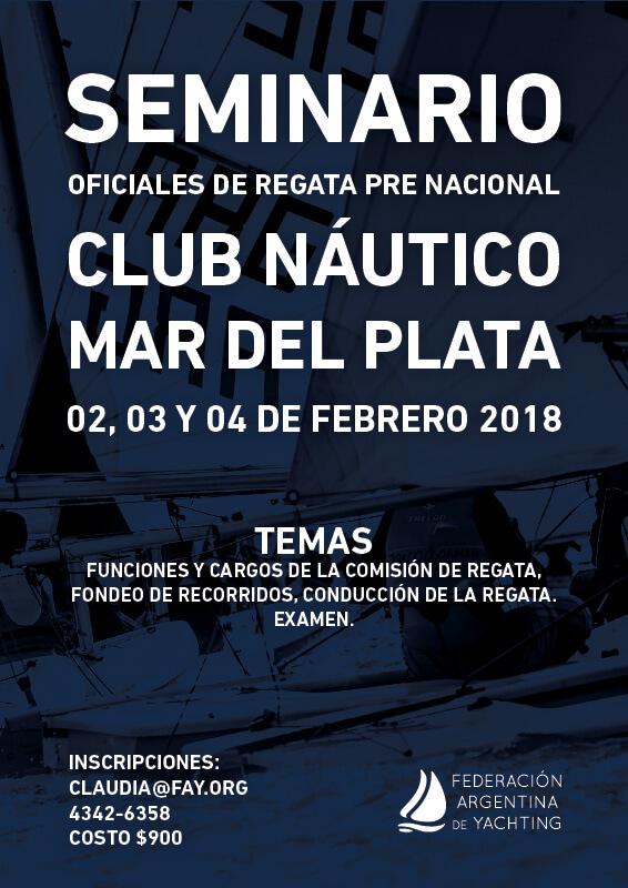 SEMINARIO OFICIALES DE REGATA PRE NACIONAL