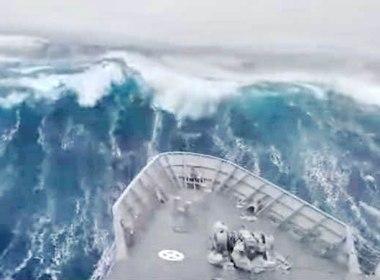 la ola más grande del hemisferio sur de casi 24 metros