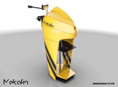 Mekafin es un motor fuera borda eléctrico