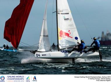 Santiago Lange y Cecilia Carranza clasificaron a la Argentina en la clase Nacra 17