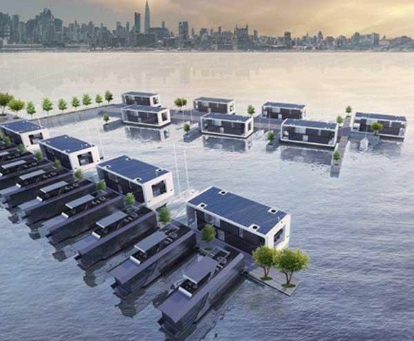 Casas flotantes capaces de resistir los huracanes