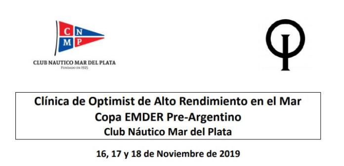 CLÍNICA DE OPTIMIST DE ALTO RENDIMIENTO