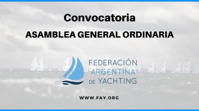 CONVOCATORIA PARA LA ASAMBLEA GENERAL ORDINARIA 2019 | FAY