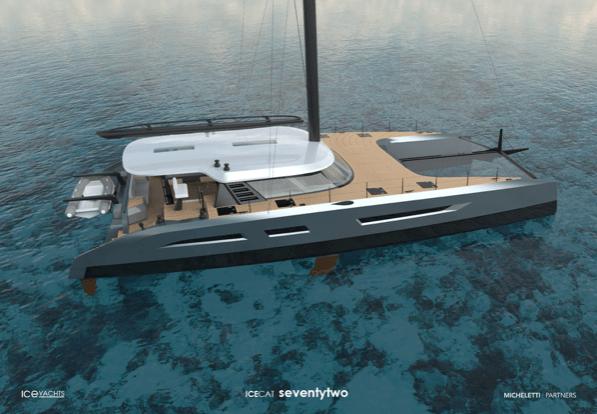 Catamarán IceCat Seventytwo