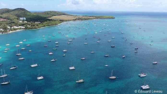 Coronavirus. 360 veleros confinados en Martinica.
