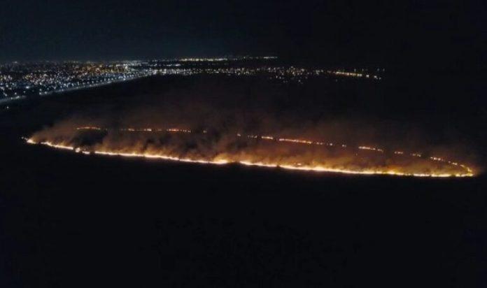Incendio en el Río de la Plata