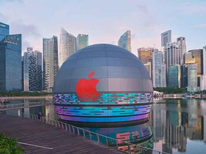 Apple Store flotante en Singapur.