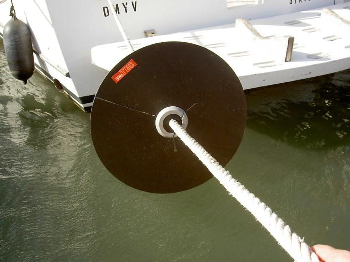 Protección anti-roedores para embarcaciones.
