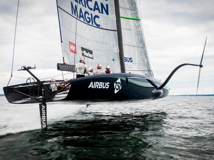 American Magic Team AC75 Yacht Defiant