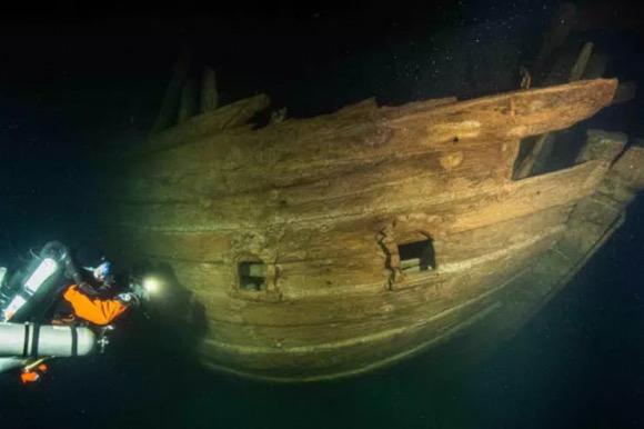 Misterioso barco hundido hace 400 años