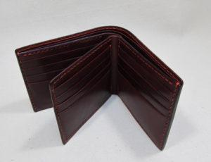 ワイン牛革かっこいい財布