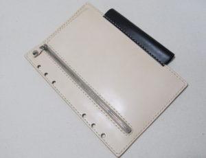 A5リフィル用紙型ファスナーポケット