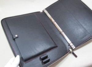 ラウンドファスナーA4-4穴バインダー&iPad9.7ケース