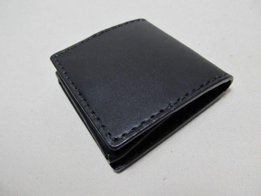 A01箱型小銭入れ黒革