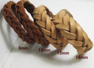 5本編みヌメ革ブレス