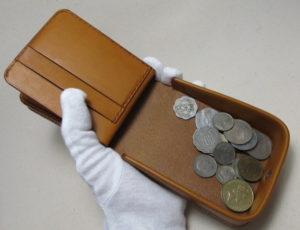 駒合わせ縫い財布カード入れ