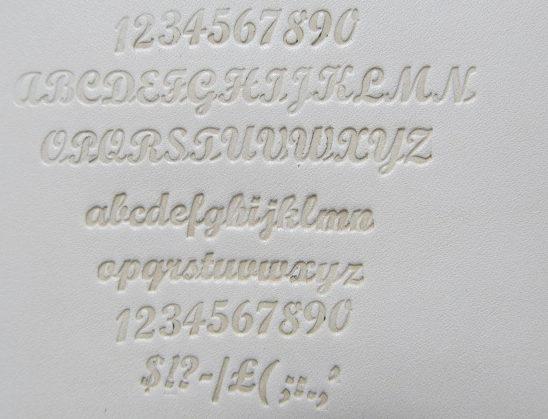 筆記体刻印4.5