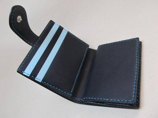二つ折り財布オーダー紺空 190305