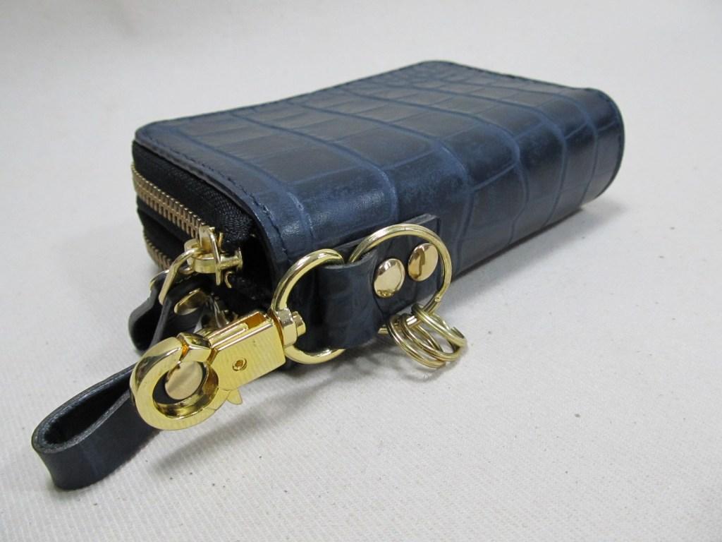 ダブルラウンドファスナーキーケース 191024