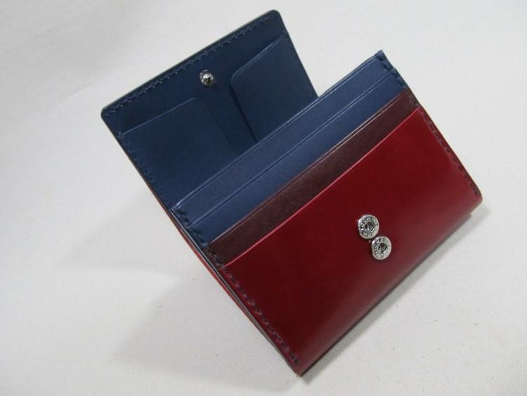 ◆コードバンレッド折り財布オーダー191212 4