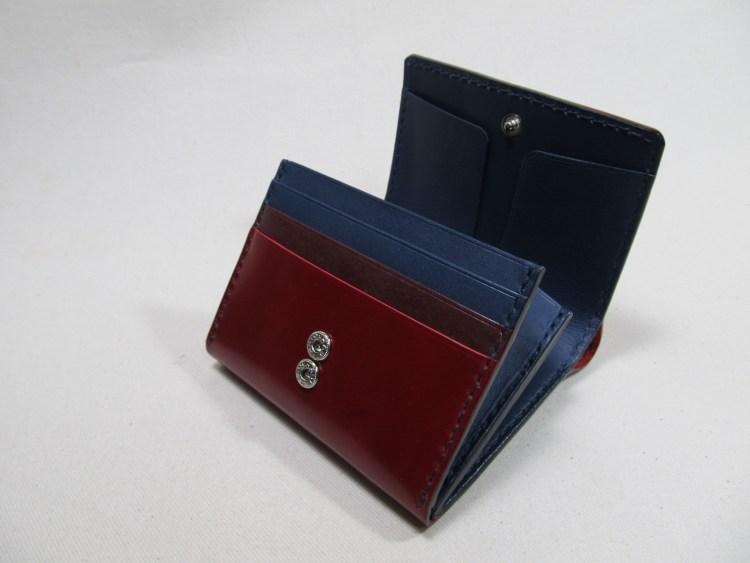 ◆コードバンレッド折り財布オーダー191212 5