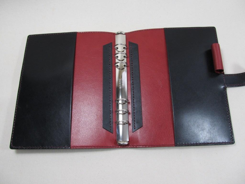 システム手帳A5サイズ黒xワイン191126