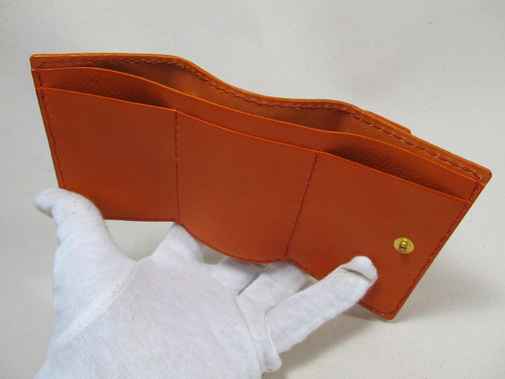 三つ折り財布オレンジ191111