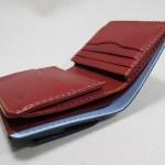 折り財布コンパクト赤x青191014