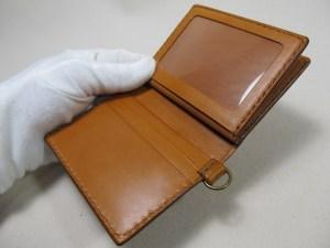 中ベラ付き二つ折りパスケース 191103