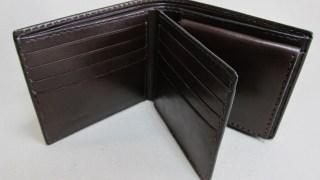 コードバンバーガンディ二つ折り財布カード入れ3面2106204連カード入れ
