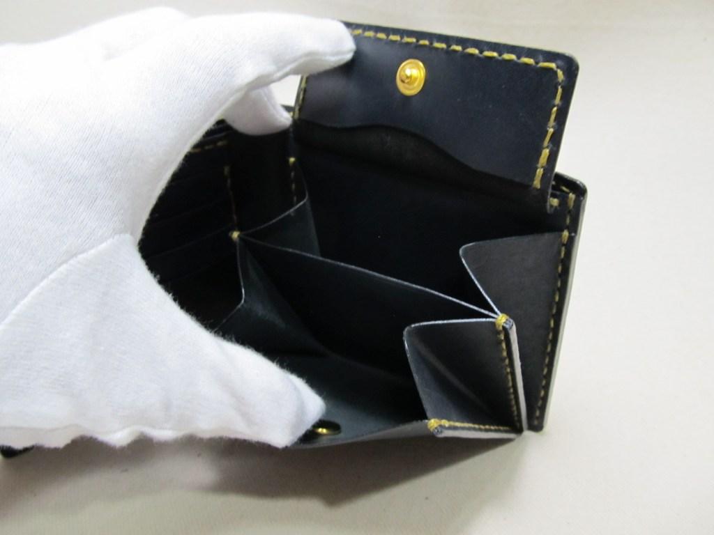 コードバン二つ折り財布210708小銭入れ2室
